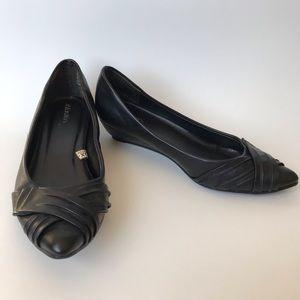 Xhilaration Black Wedges - Black Heels - Size 6